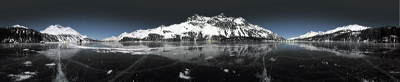 2 a.m., Silsersee, Sils/Segl, Switzerland, Blackice, Schwarzeis, Silsersee, Lej da Segl, Engadin, Berge, Mountains, See, Lake, Water, Wasser, Sun, Sonne, Winter, Ice, frozen, Panorama, Black ice, gefroren, Eis, environment, scenery, nature, Horizon, Sky