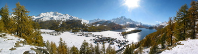Plaz, Sils/Baselgia, Switzerland, Winter, Lake, Water, Panorama, Wasser, Berge, Mountains, environment, scenery, nature, Sun, Horizon, Sky